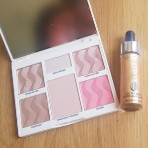 Cover FX Perfector Face Palette and glitter drops